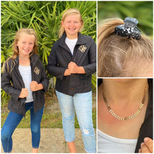 Monogram Girls Black Jacket