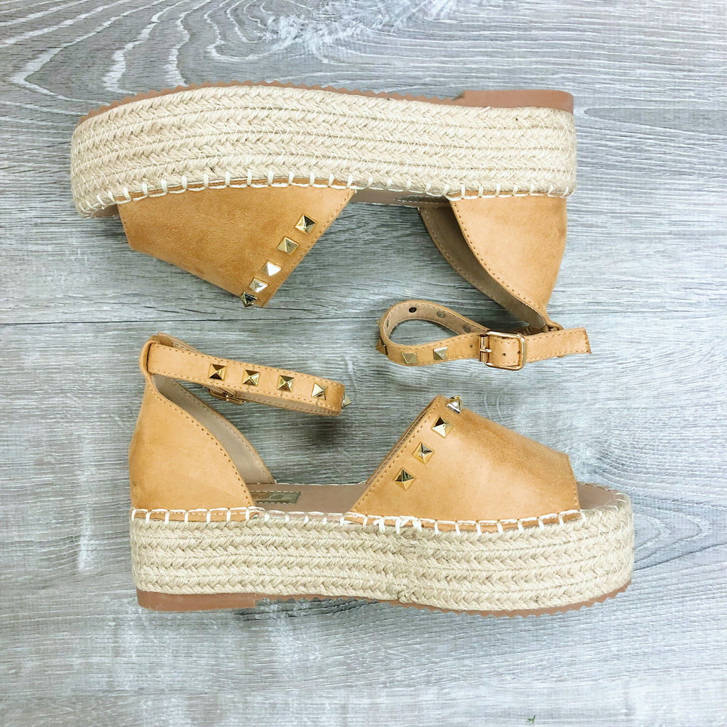 Studded Suede Wedges