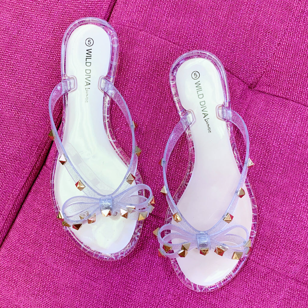 Studded Jelly Flip Flops