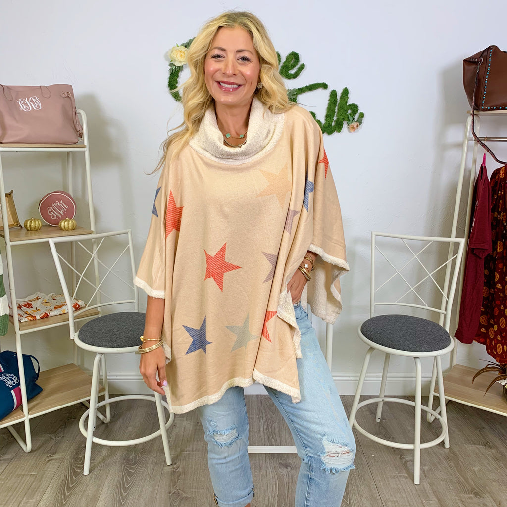 Up in the Sky Star Poncho