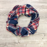 Monogram Blue Plaid Infinity Scarf