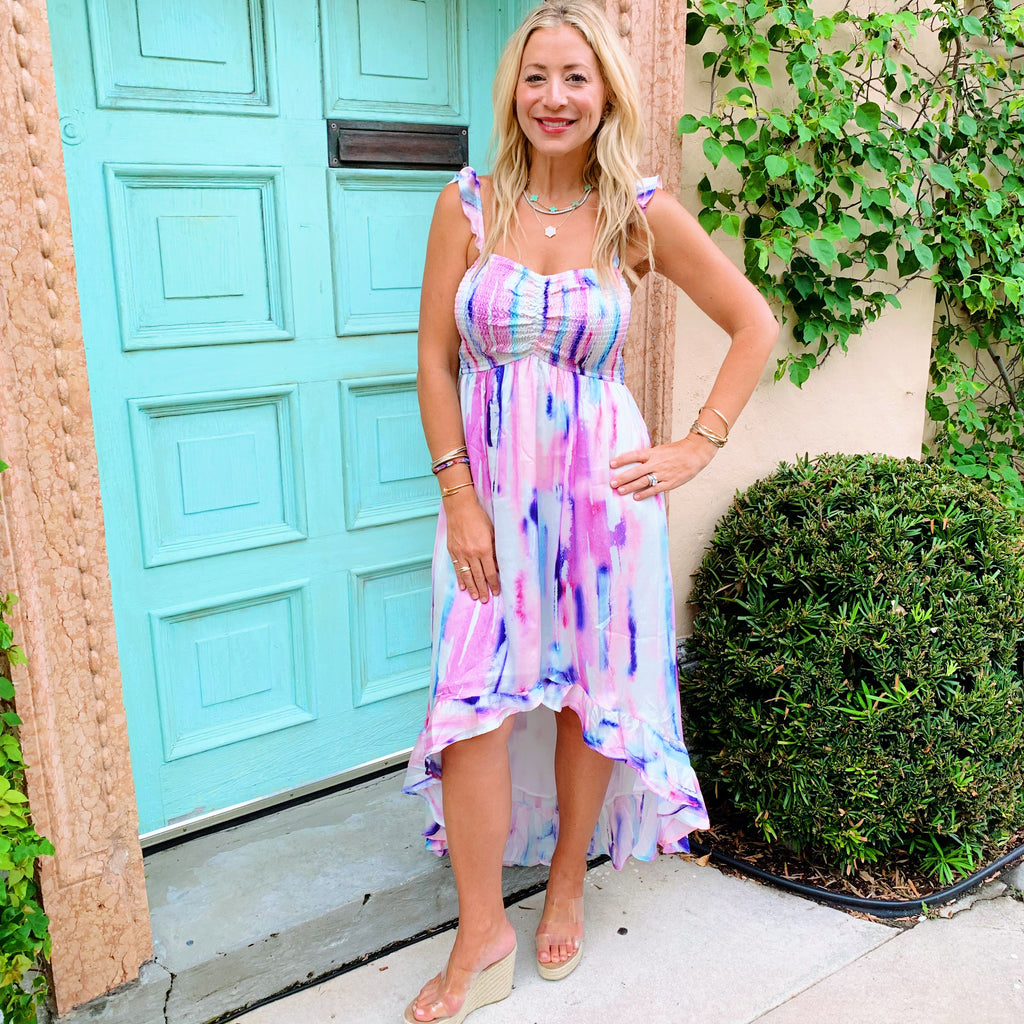 Take Me Out Tonight Tie Dye Dress