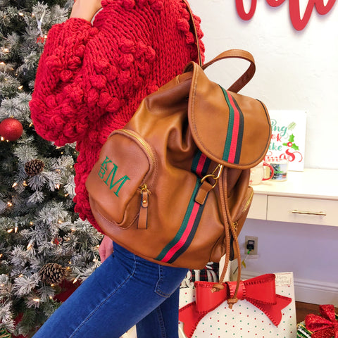 Monogram Clare Straw Bag