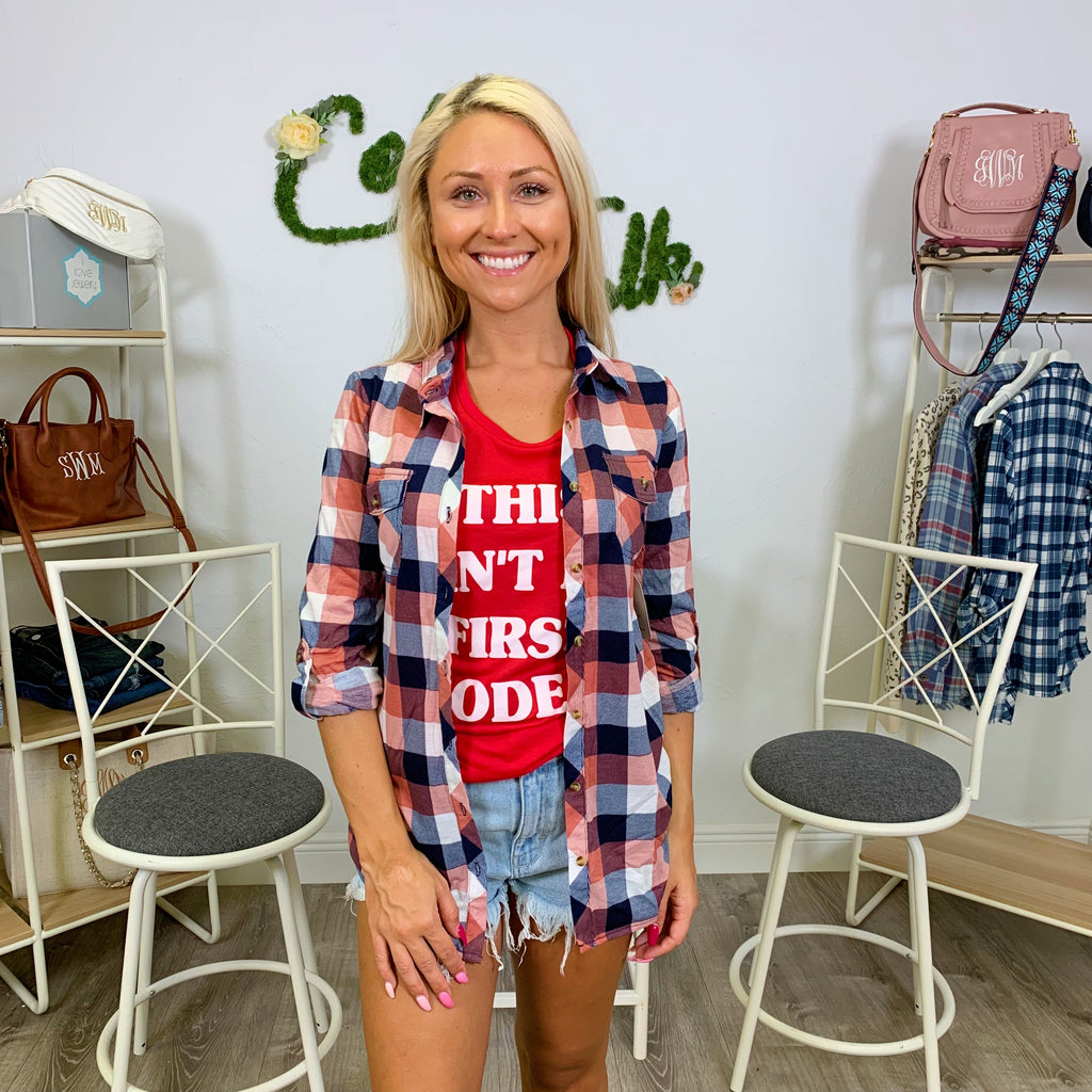 Monogram Peyton Plaid Button Down