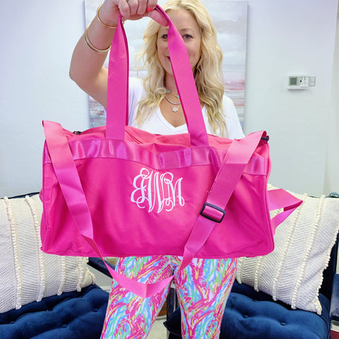 Monogram Rainbow Tote Bag