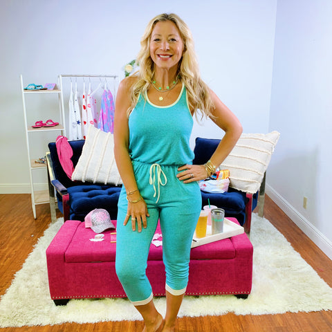 Monogram Sea Smocked Jumpsuit