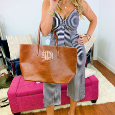 Monogram Boston Tote Bag