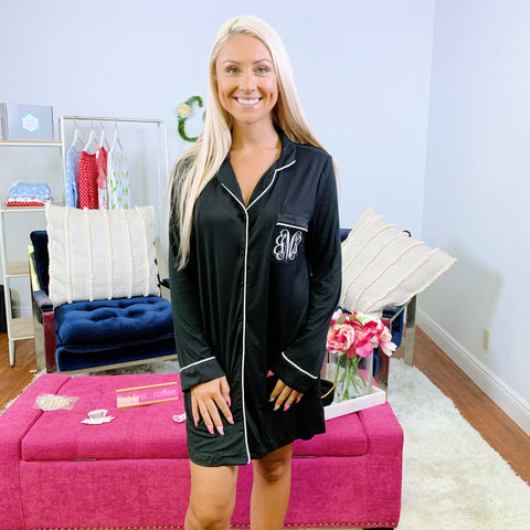 Monogram Plush Ruffle Robe
