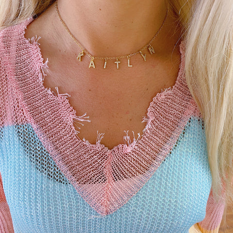 Jordann's Pave Magnolia Necklace {Longest Necklace in Set}