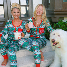Monogram Christmas Fair Isle Pajama Set