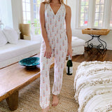 Rose All Day Pajama Jumpsuit