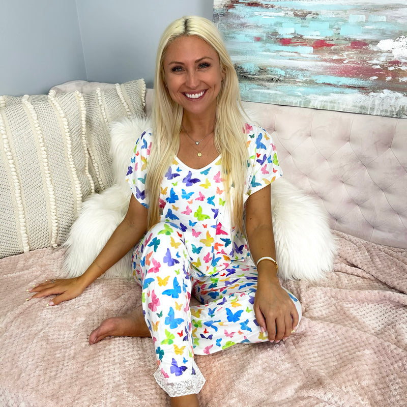 Monogram Butterfly Pajama Set