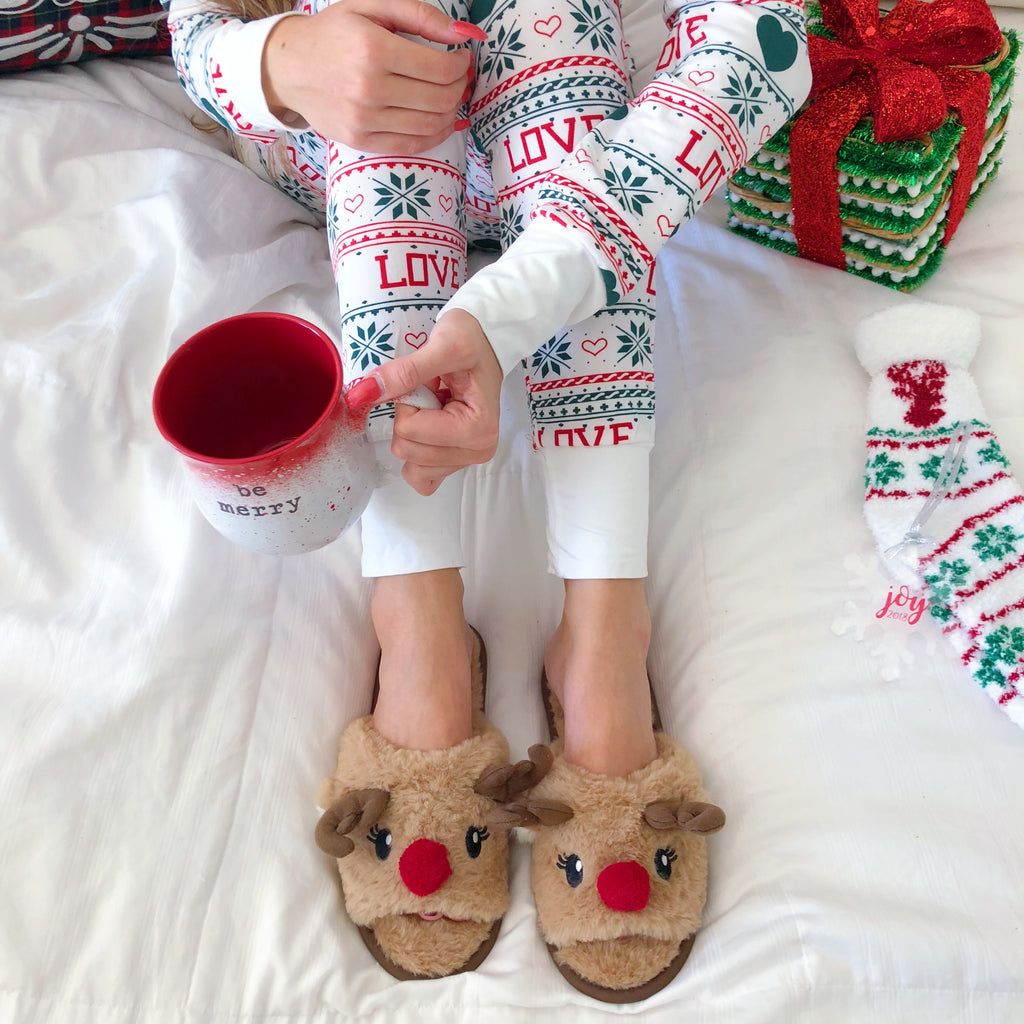 Dasher Reindeer Slippers