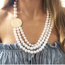Jordann Jewelry Monogram Magnolia Diamonds by the Yard Necklace