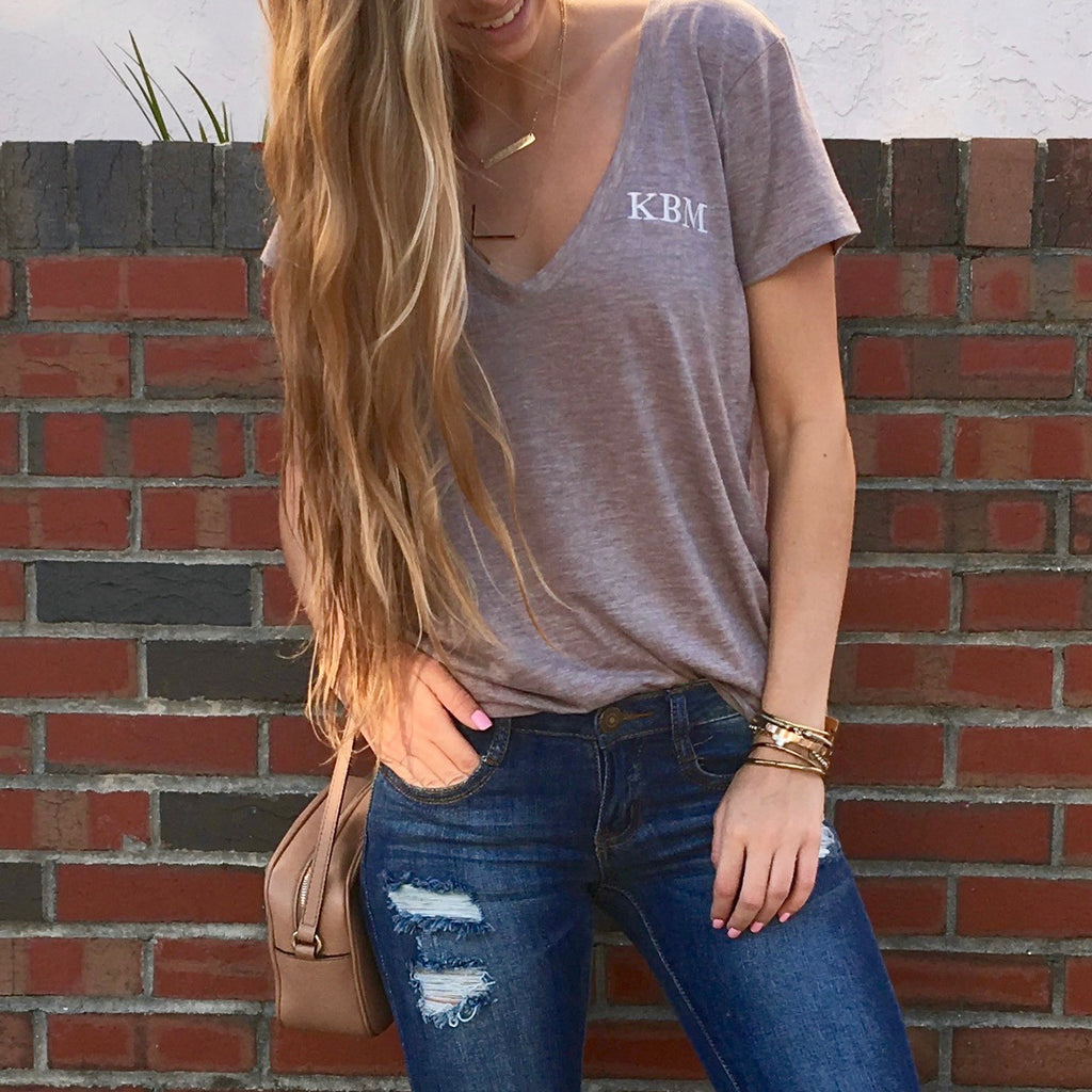 Monogram Hunter V-Neck Tee