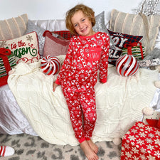Monogram Candy Cane Pajama Set - Youth