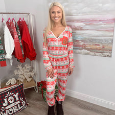 Monogram Christmas Heart Jumpsuit