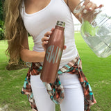 Monogram Rose Vacuum  Bottle