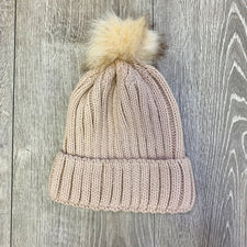 Monogram Blush Knit Beanie