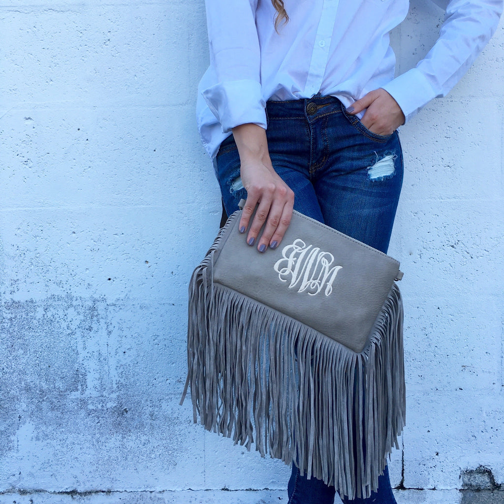 Monogram Fringe Bag
