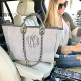 Monogram Mademoiselle Tweed Handbag