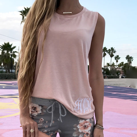 Monogram Racerback Tank Top