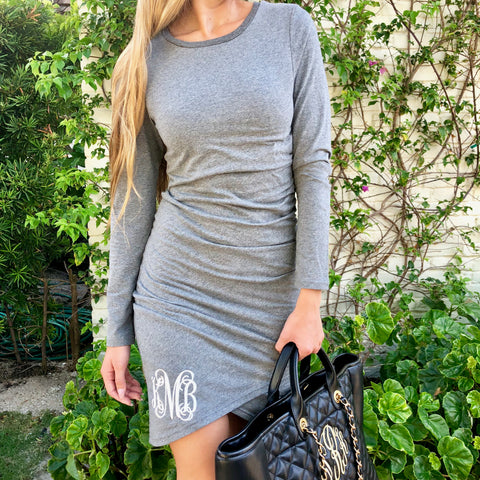 Monogram Taupe Color Block Dress