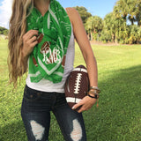 Monogram Football Scarf