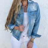 Personalized Distressed Jean Jacket