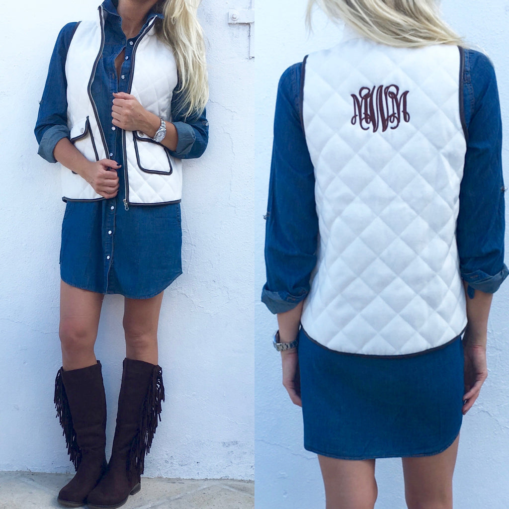 Monogram Lila Quilted Vest