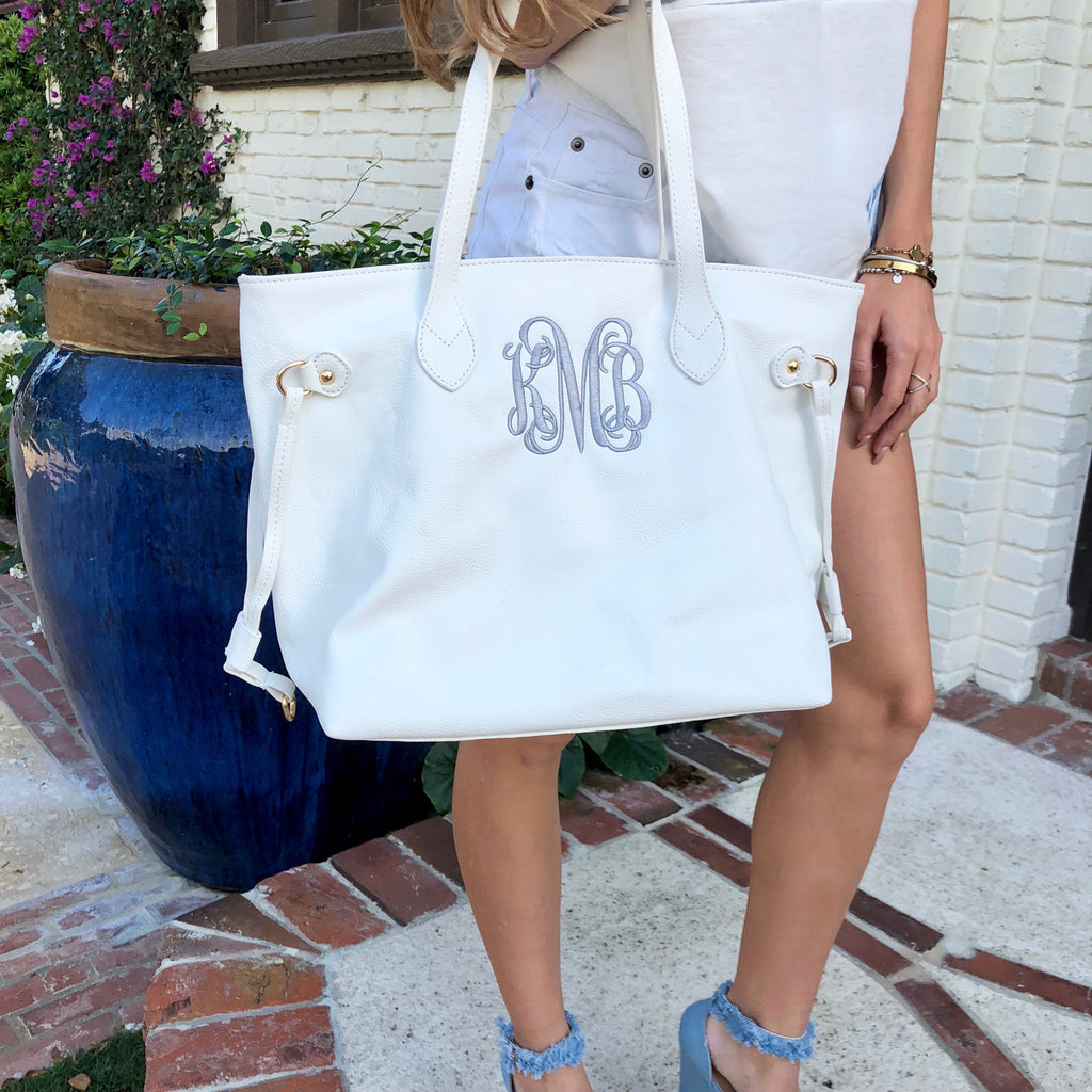 Monogram Capri Tote Bag