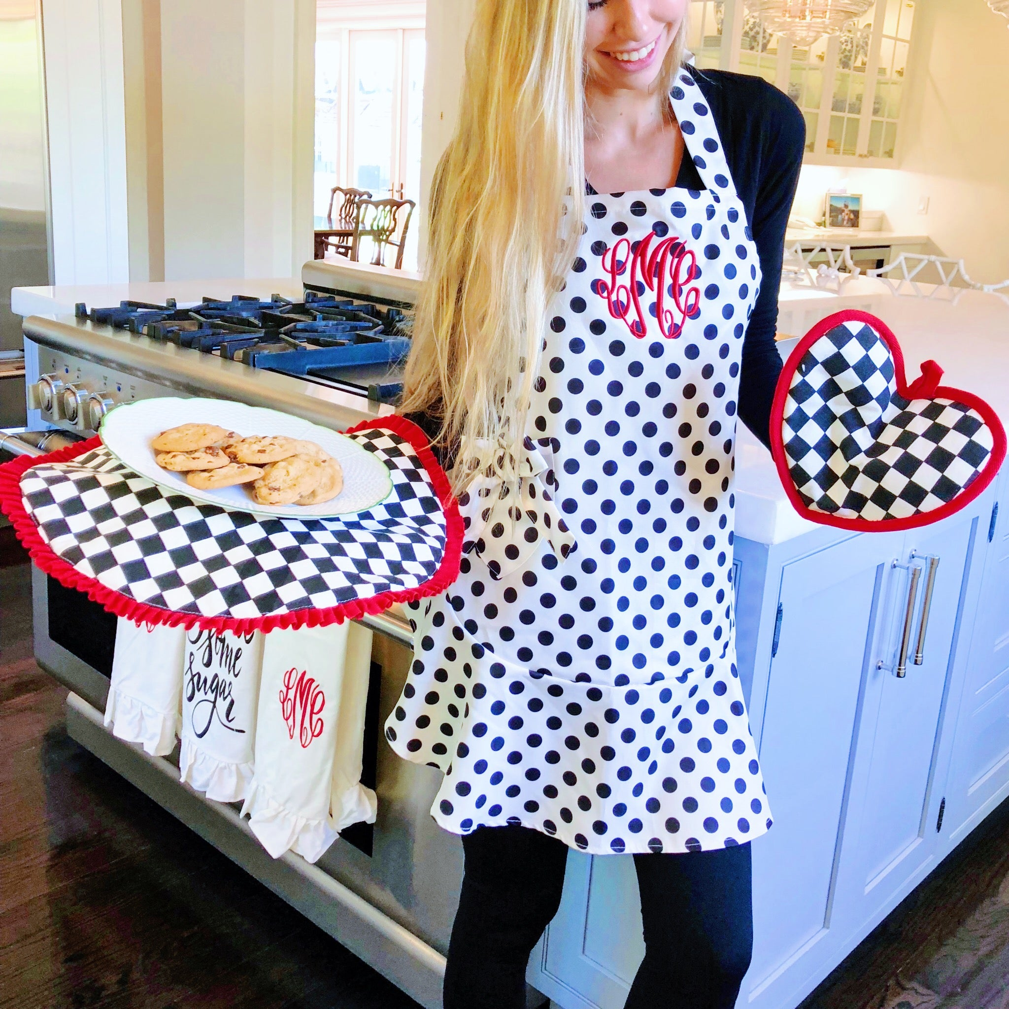 Monogram Polka Dot Apron {Accessories Included}