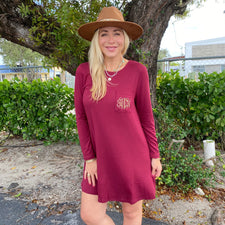 Monogram Bree Burgundy Dress