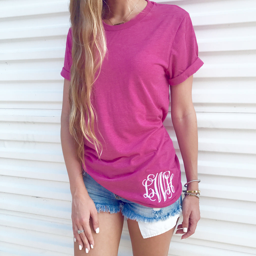 Monogram Berry Boyfriend Tee