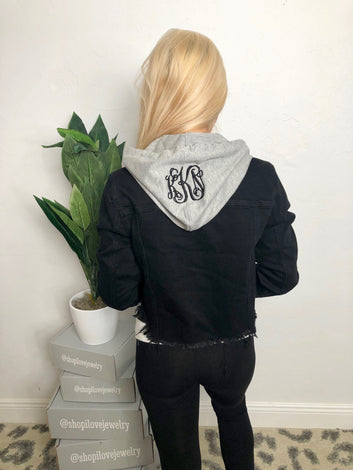 Monogram Holly Hooded Denim Jacket