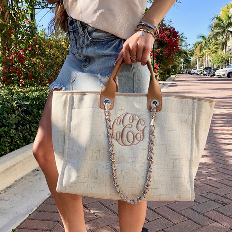 Monogram Coco Tweed Handbag