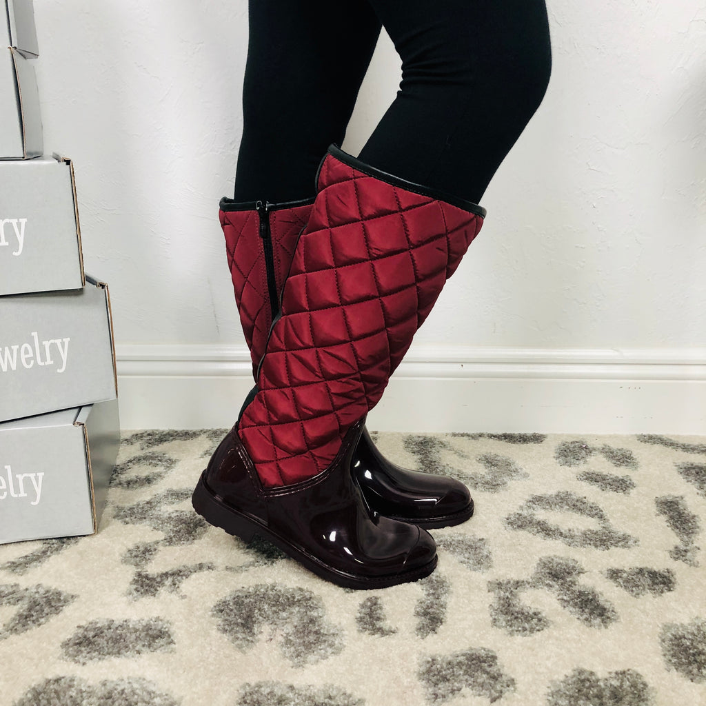 Monogram Quilted Boots