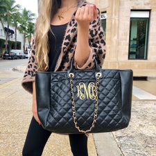 Monogram Glitter Tweed Backpack