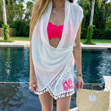 Monogram Fringe Cover Up