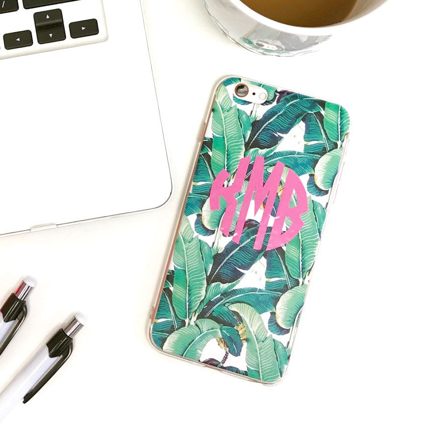 Monogram Palm Print Phone Case