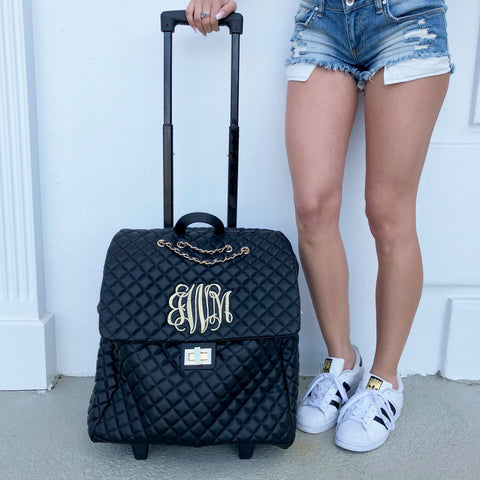 Monogram White Travel Case