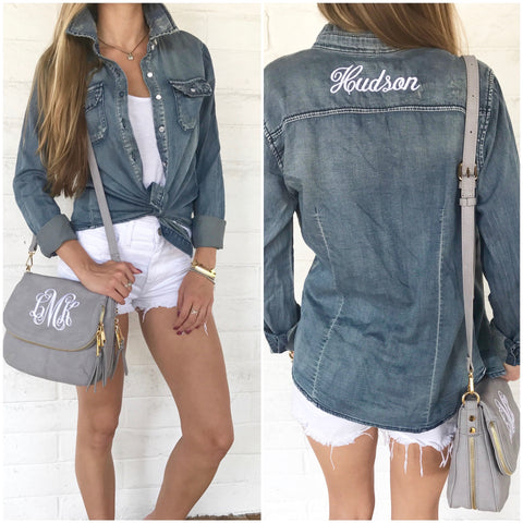 Monogram Starla Denim Jacket