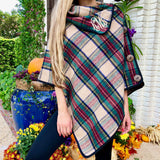 Monogram Tessa Plaid Poncho