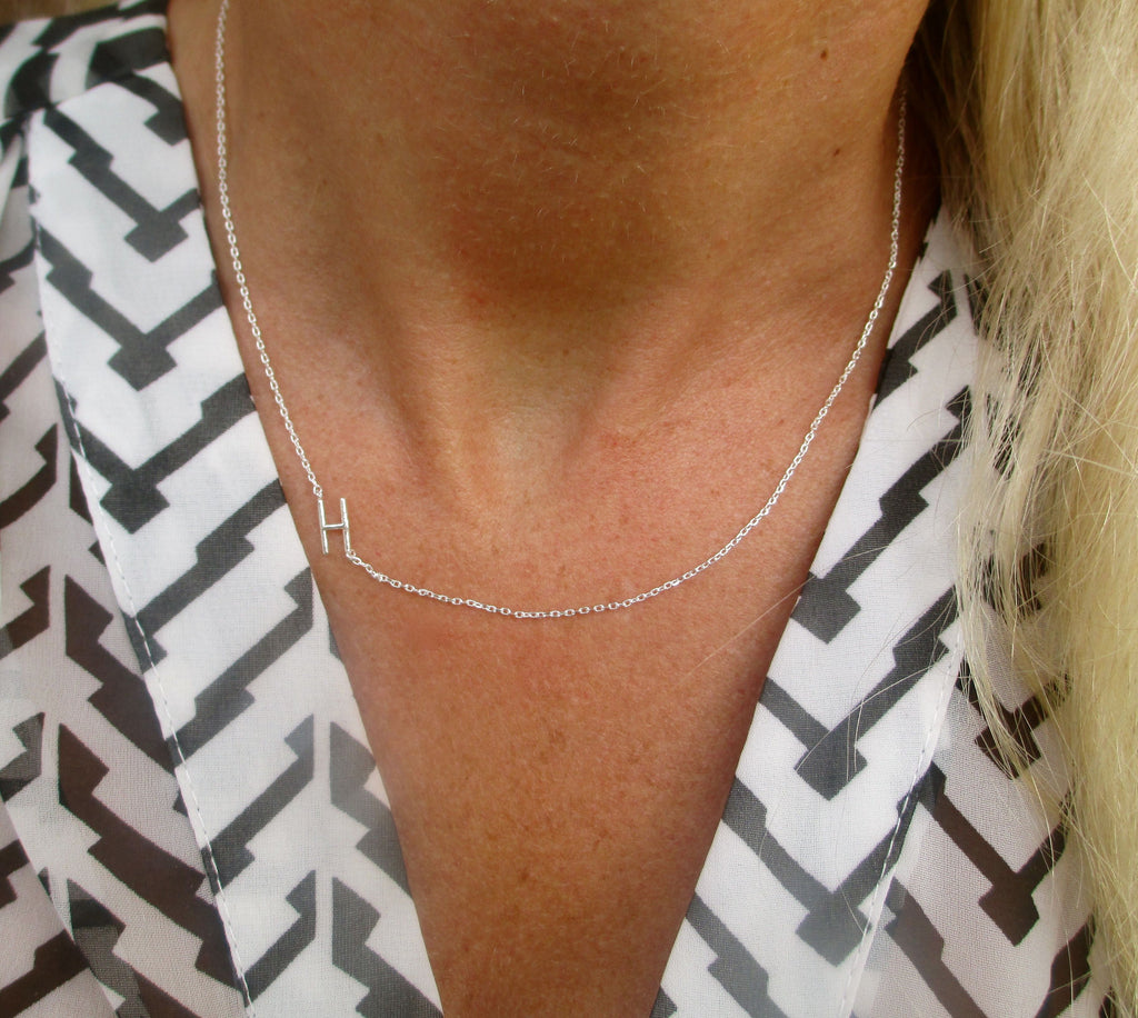 products jewelry initial necklace img sideways i love silver