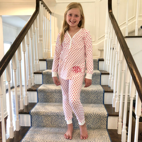 Monogram Heart Pajama Set
