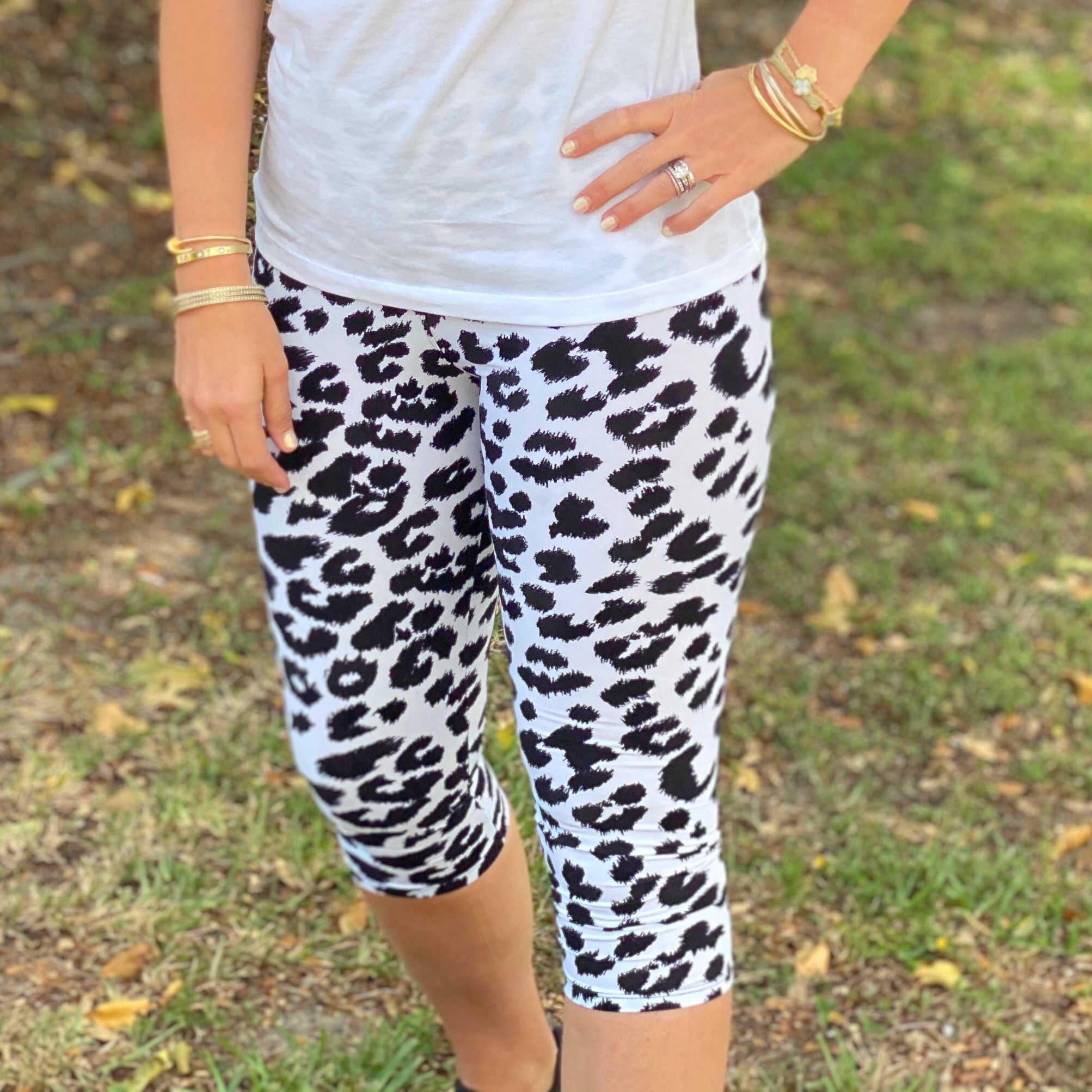 Spotted Capri Leggings