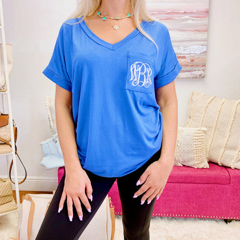 Monogram Veronica Pocket Tee