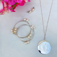 Monogram Leaf Garland Necklace