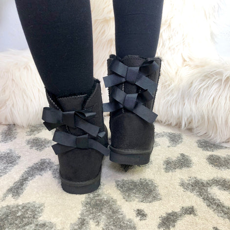 Monogram Bow Tie Booties