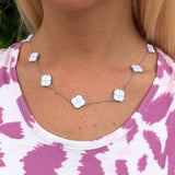 Jordann's Enamel Clover Necklace {Shortest Necklace in Set}